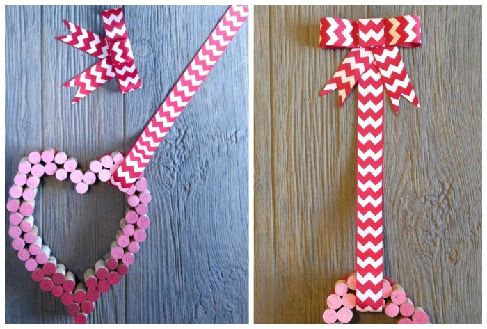 Measure the ribbon and attach the bow to the top of it