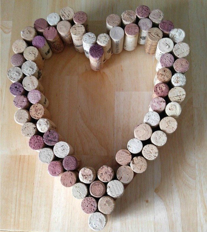 Cork covered heart