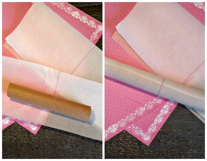 Wrap the cardboard tube with parchment paper