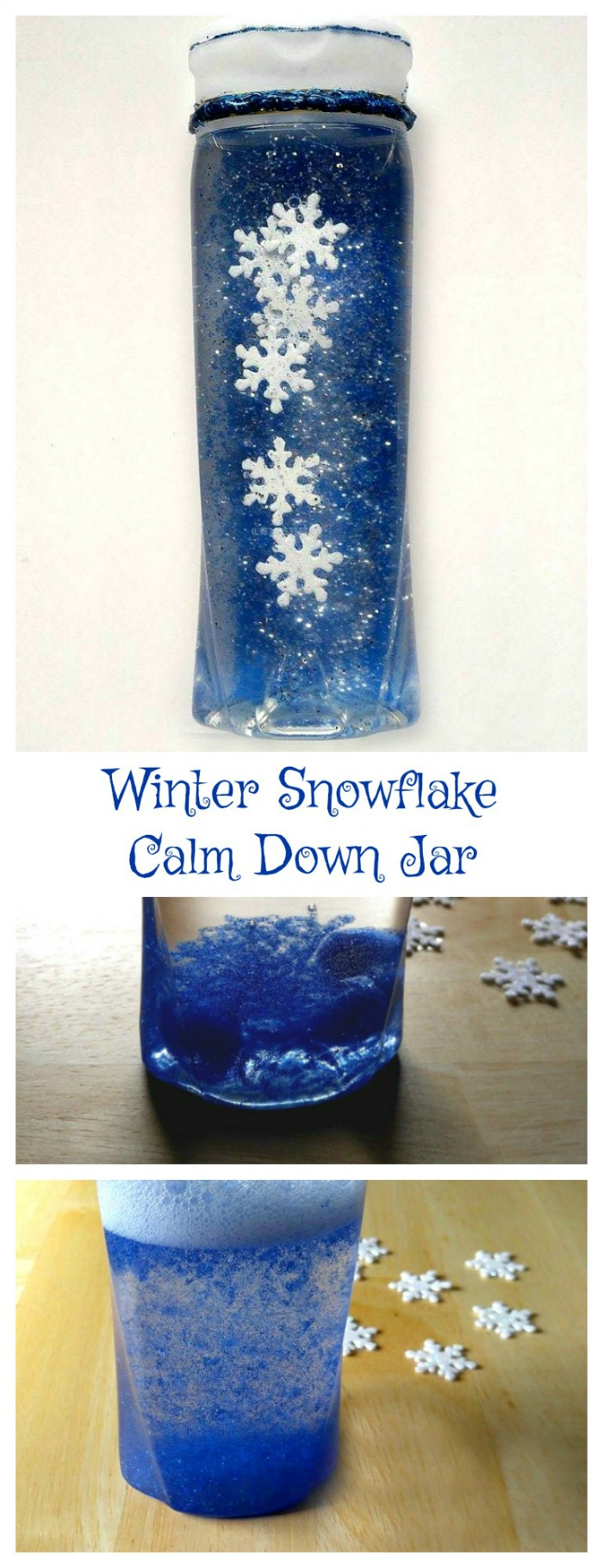 This Snowflake Calm Down Jar will help your children to relax and calm down when they are cooped up due to cold weather. They will love to see the snowflakes falling and it will keep them busy.