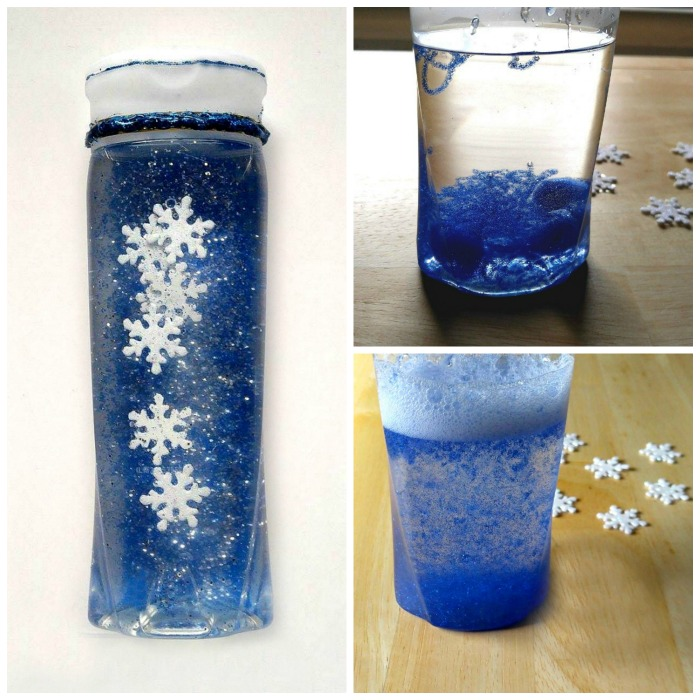Snowflake Calm Down Jar for Winter Relaxtion