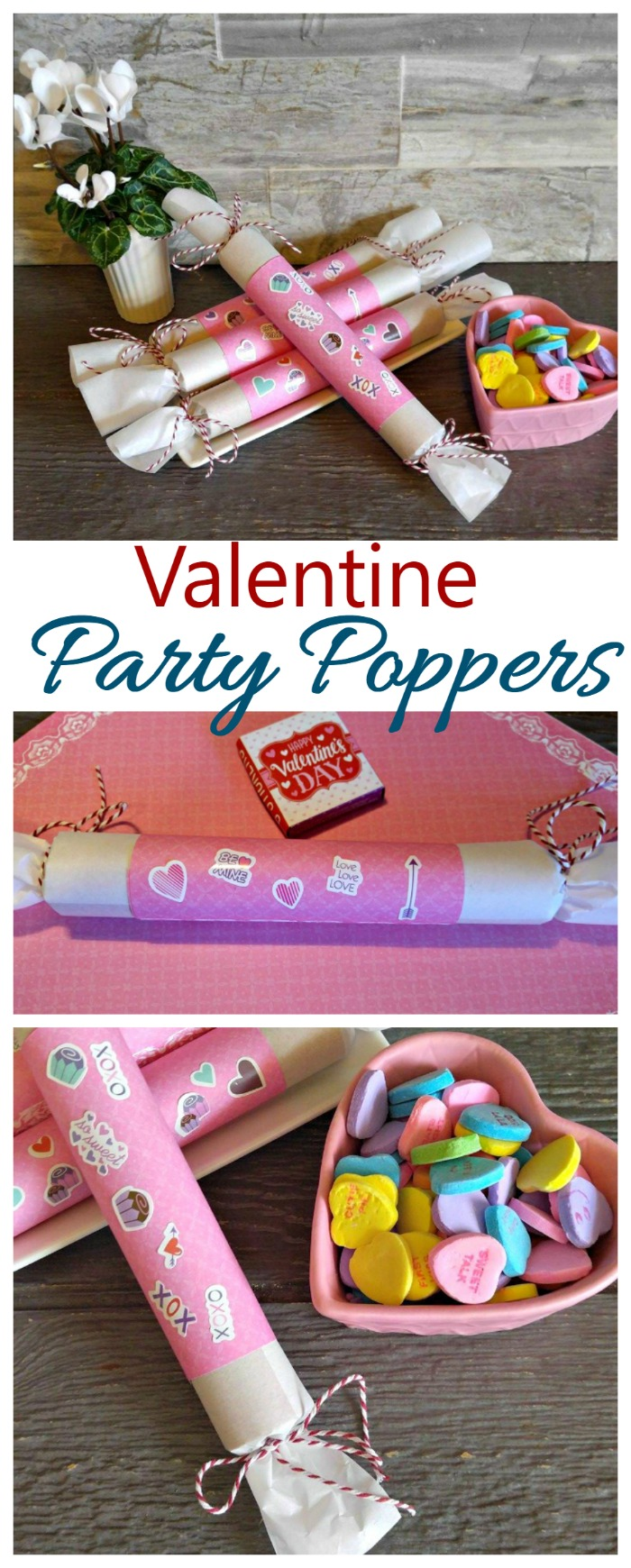 These Valentine Party Poppers are as much fun to make as they are to pop. Your kids will love to help with this easy project.