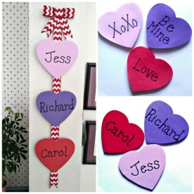 DIY Valentine's Day Wall Hanging