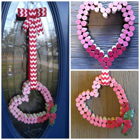 This Wine Cork Heart Door Decoration is perfect for a glass paneled door where a wreath won't work.