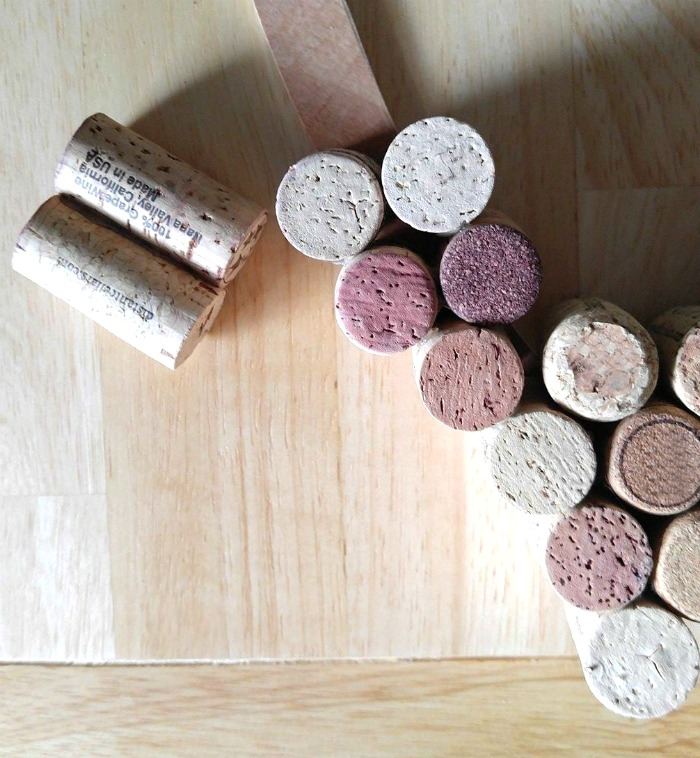 Work in pairs of corks