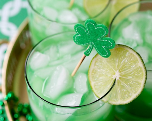 St Patrick's Day Shamrock sour from pizzazzeria.com