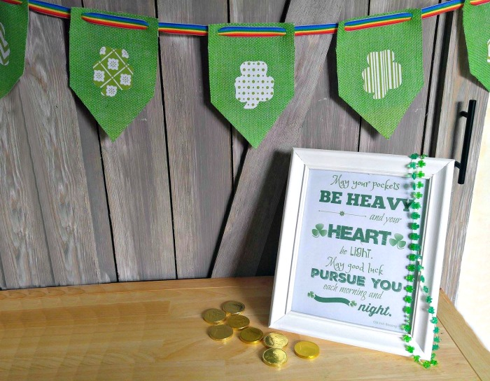 St. Patrick's Day Banner and Printable photo