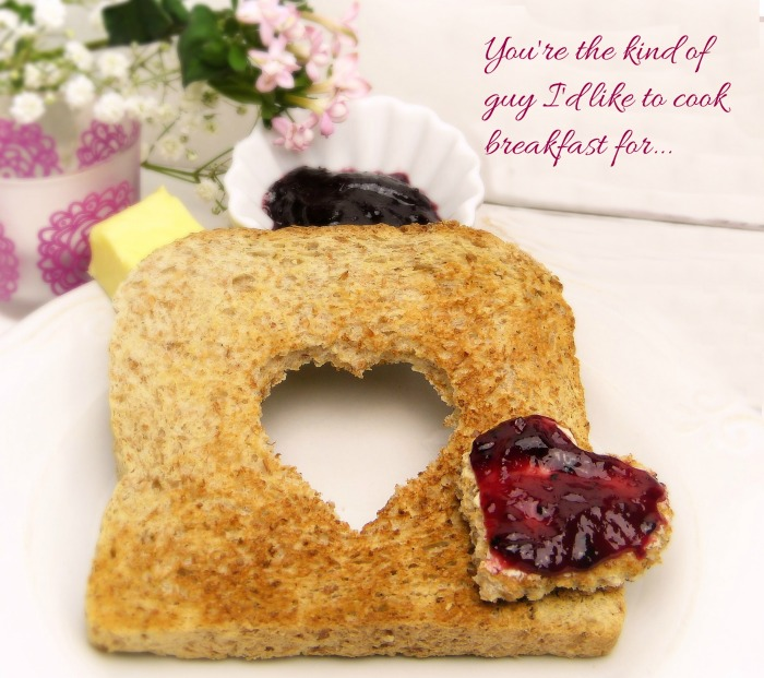 Romantic breakfast love quote
