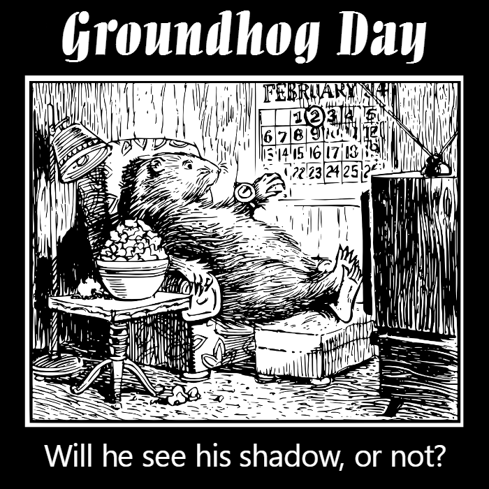 Groundhog day cartoon