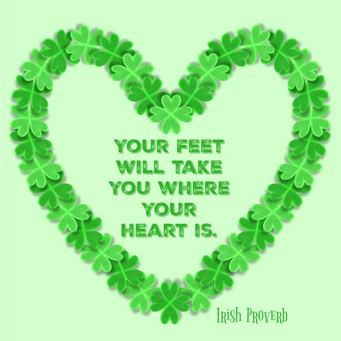 Feet and Heart Quote