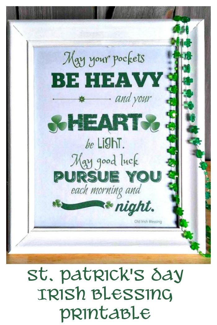 Old Irish Blessing Printable