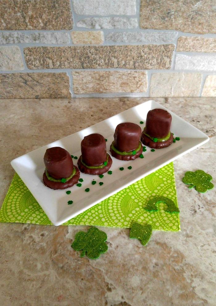 Leprechaun hats on a serving plate