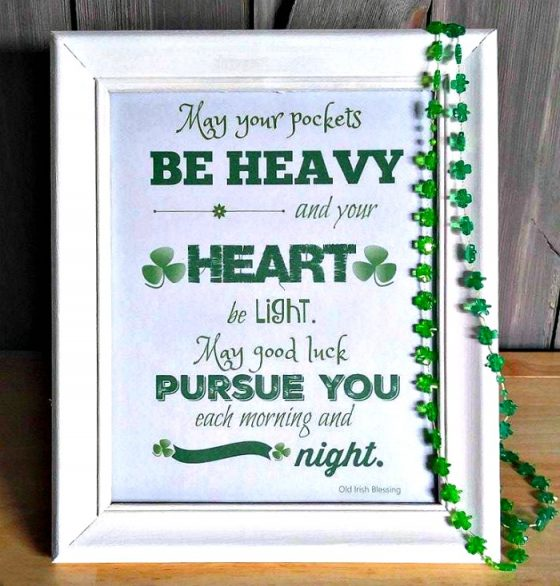 St . Patrick's Day printable - Old Irish Blessing