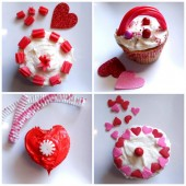 Easy Valentine Cupcake Decorations
