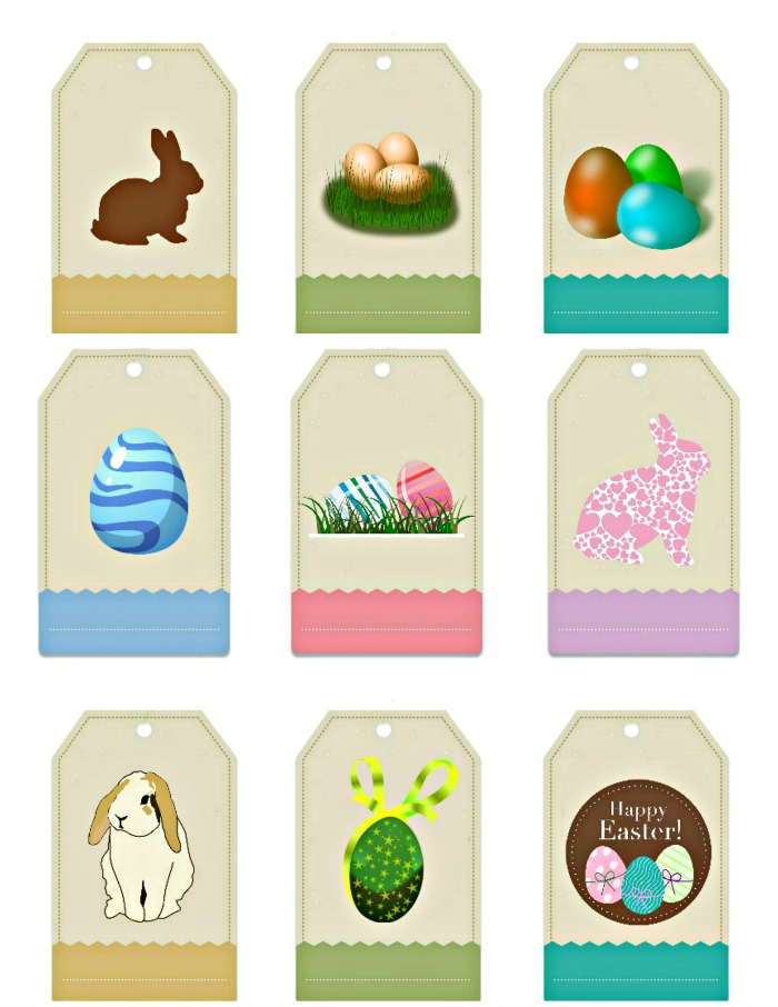 Easter gift tag labels free printable always the holidays free printable easter gift tags negle