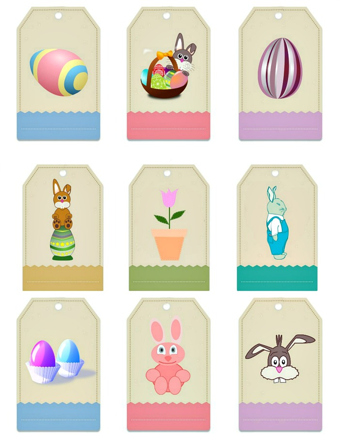 Easter gift tag labels free printable always the holidays free printable easter gift tags negle Image collections