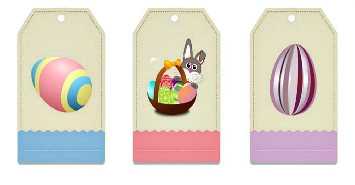 Easter gift tag labels free printable always the holidays negle Image collections