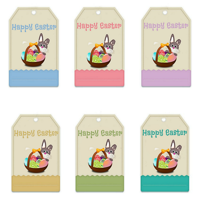 Easter Bunny Gift Bag Printable