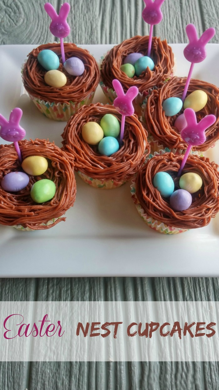 Easter Nest Cupcakes For A Whimsical Look To Your Easter