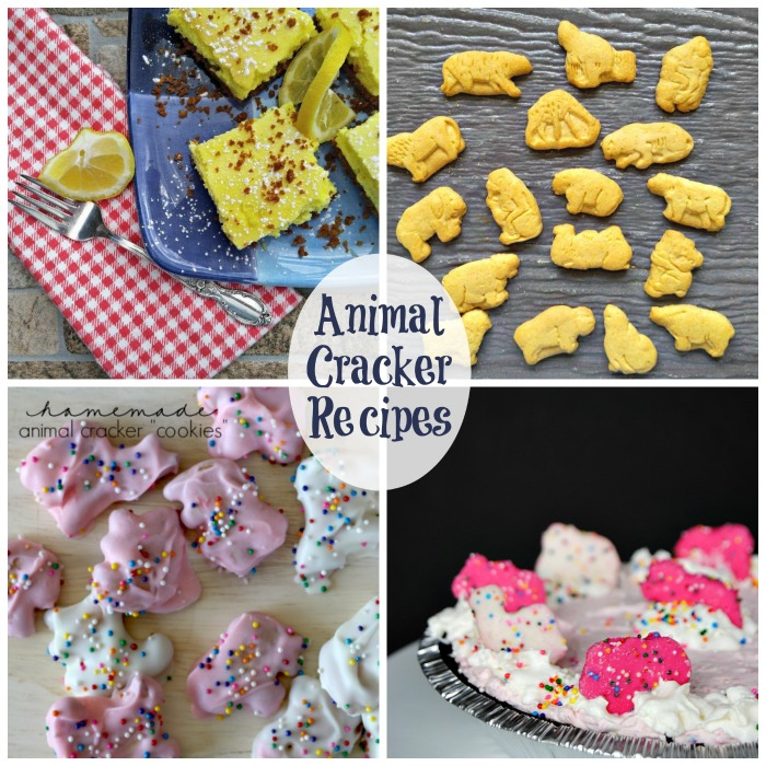 Animal cracker recipes