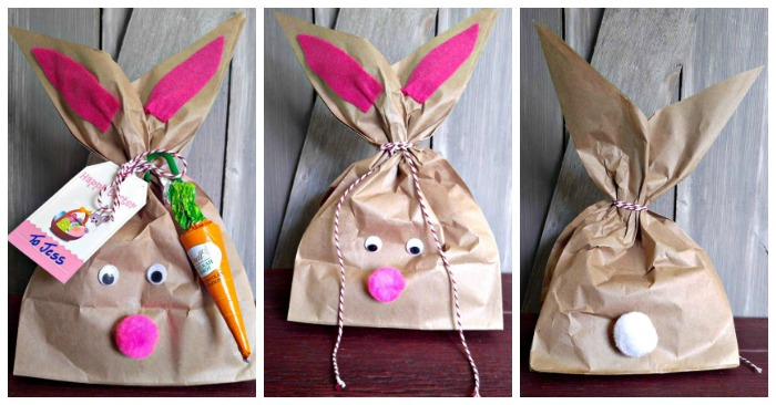 Easter bunny gift bag with a free gift tag printable always the easter bunny gift bag with a free gift tag printable always the holidays negle Images