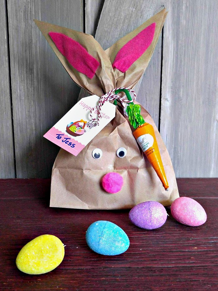 Finished Easter Bunny gift bag