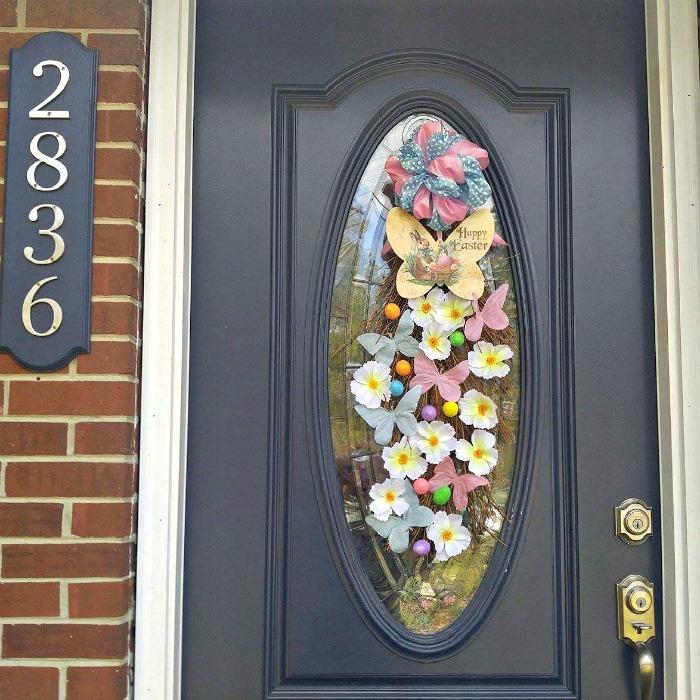 Easter Door Swag welcomes spring