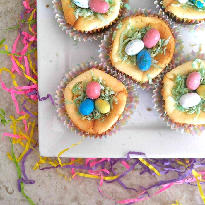 Individual sized Easter Egg Cheesecakes