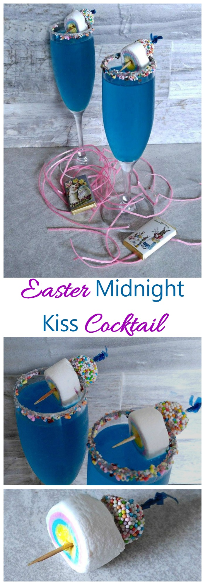 This Easter midnight kiss cocktail is the perfect drink to share with a loved one while the kids are having an Easter Egg hunt. 4 21+