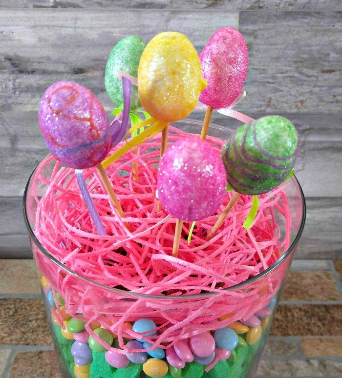 Add the foam Easter Egg picks