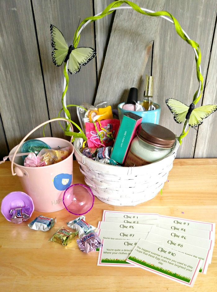 Have an Easter Egg hunt with clues