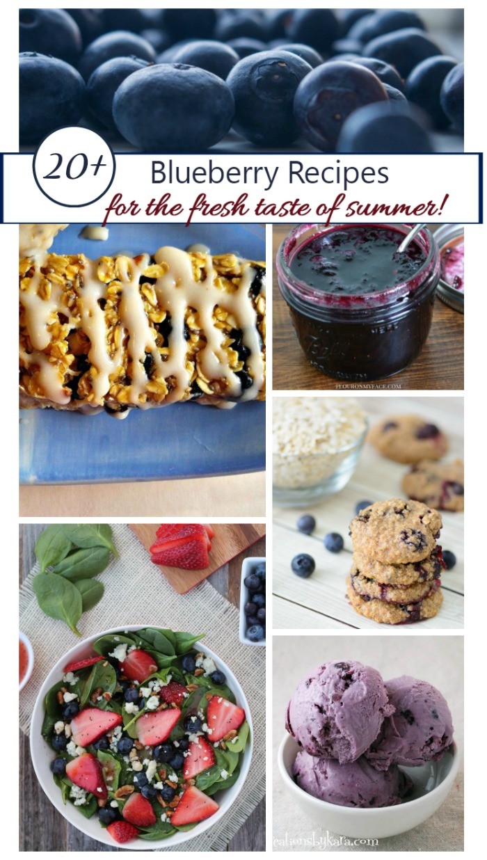 These 20+ Blueberry Recipes bring home the fresh and tart taste of summer. From smoothies to salads and desserts, there is something for all tastes.