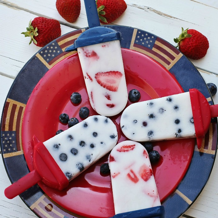 Fourth of July popsicles