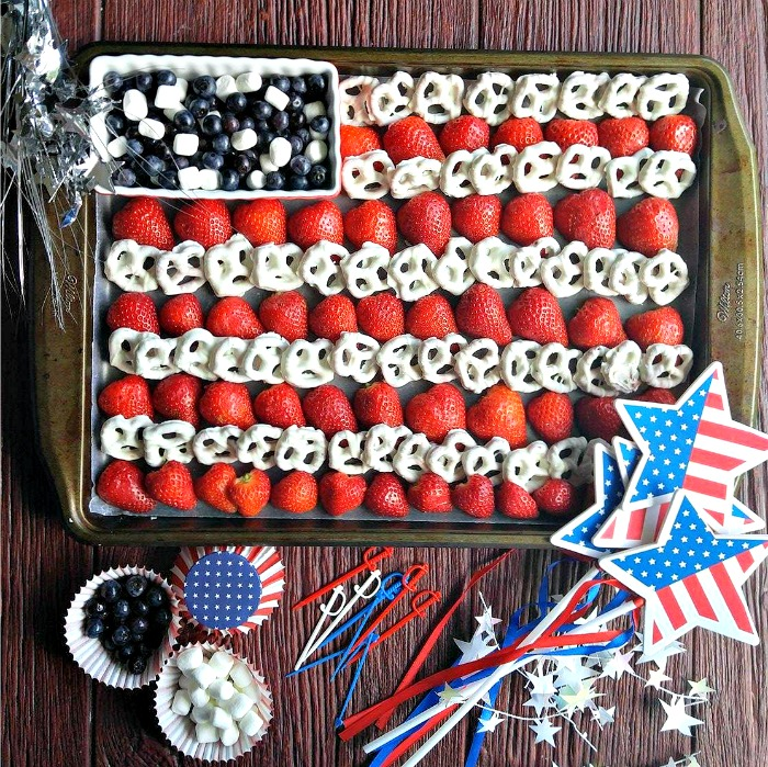 Easy 4th of July Flag Platter