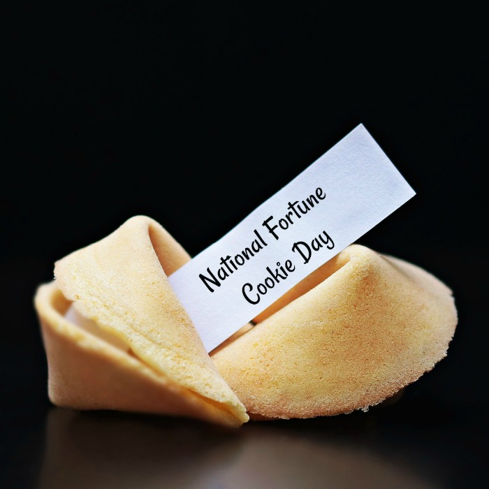 July 20 is National Fortune Cookie Day