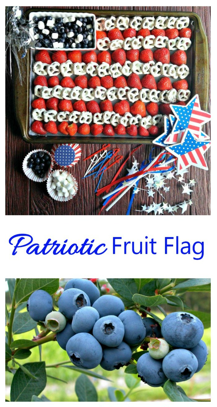 This fun fruit flag will add a patriotic touch to your party table