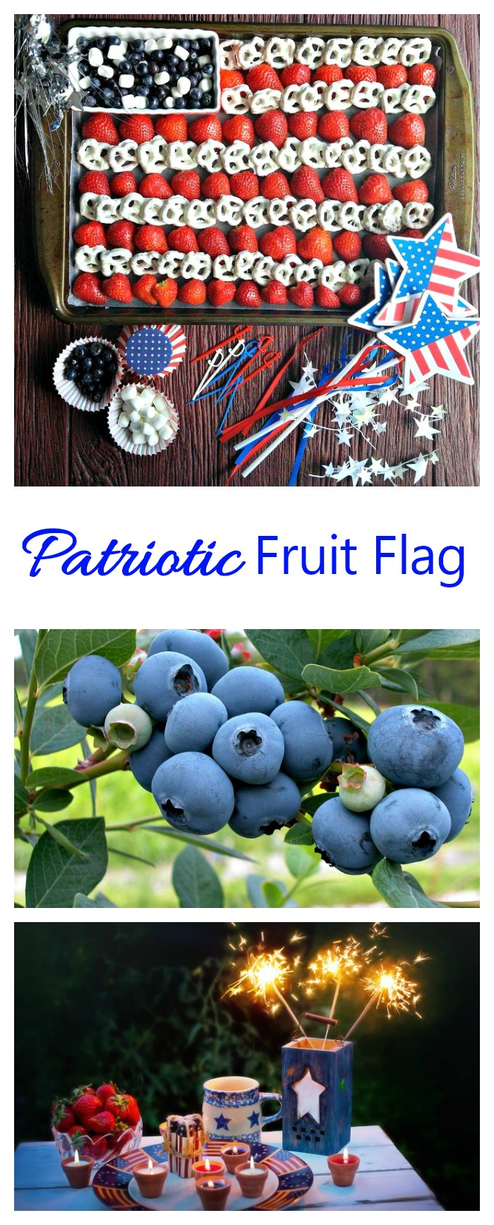 This Easy 4th of July Fruit platter is decorative and fun. It's perfect for Memorial day or the 4th of July