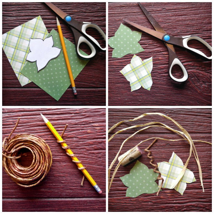 Making the leaves and stems