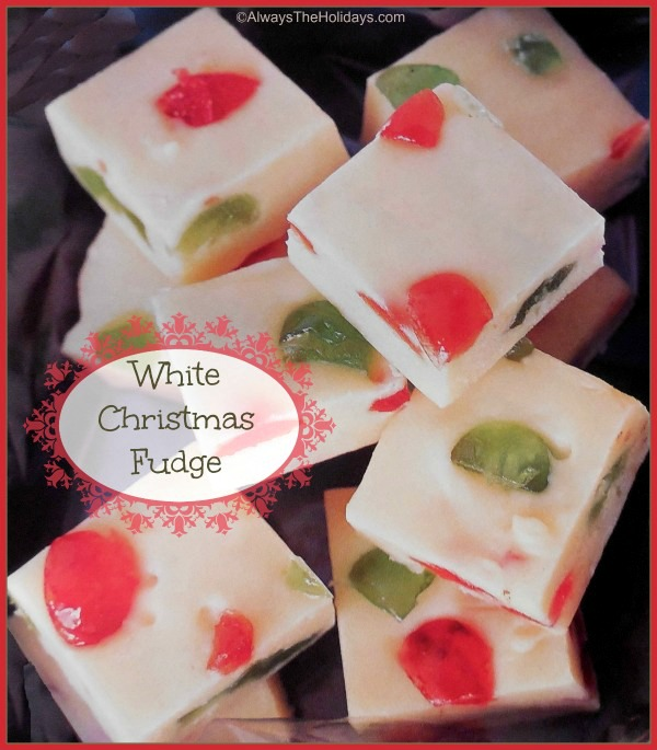 White chocolate mosaic fudge