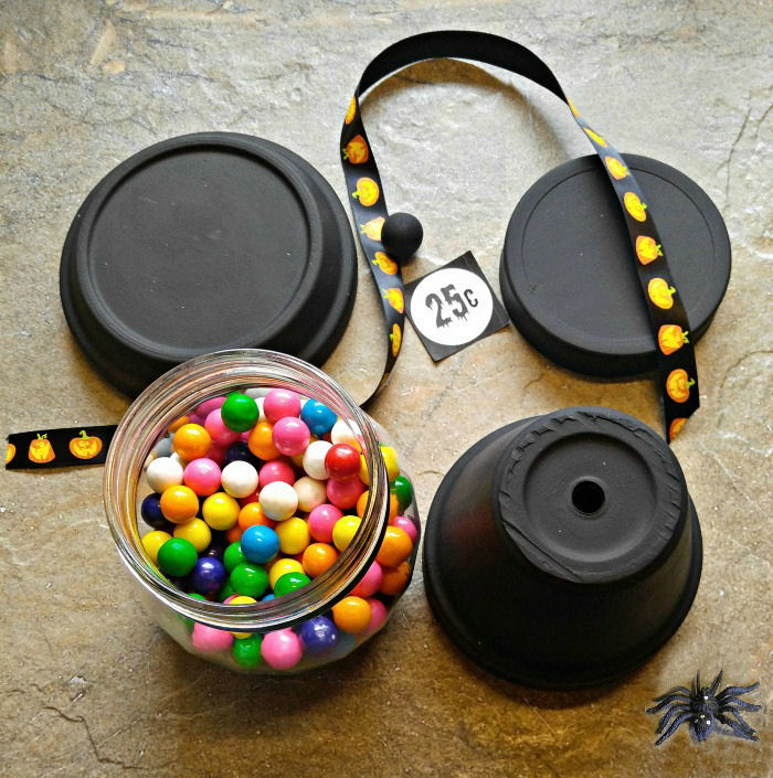 Materials for the Halloween Bubble Gum Jar