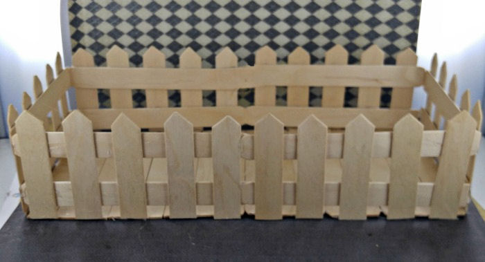 finished picket fence