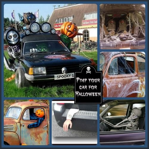 Spooky Halloween car decorations
