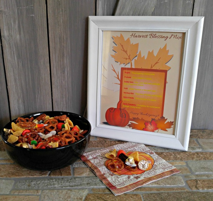 Harvest blessing mix and framed printable.