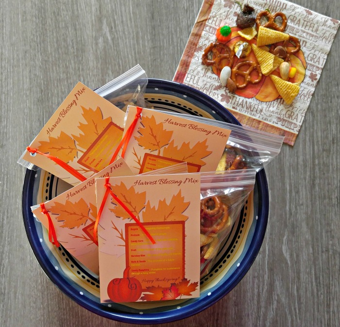Individual packages of harvest blessing mix