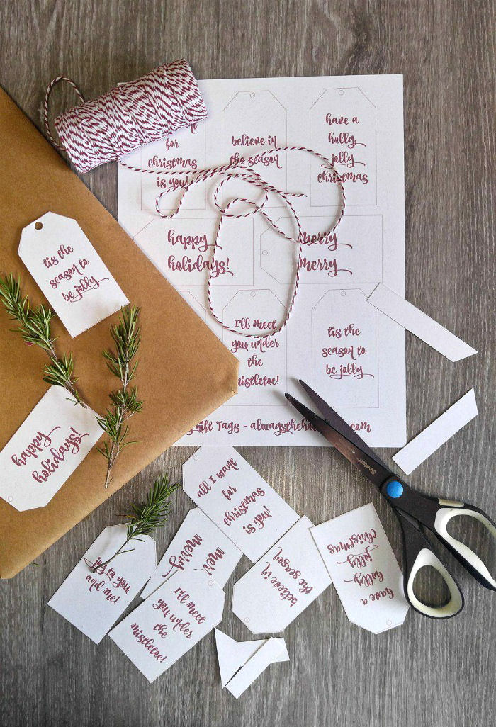 Making Printable Christmas Gift Tags