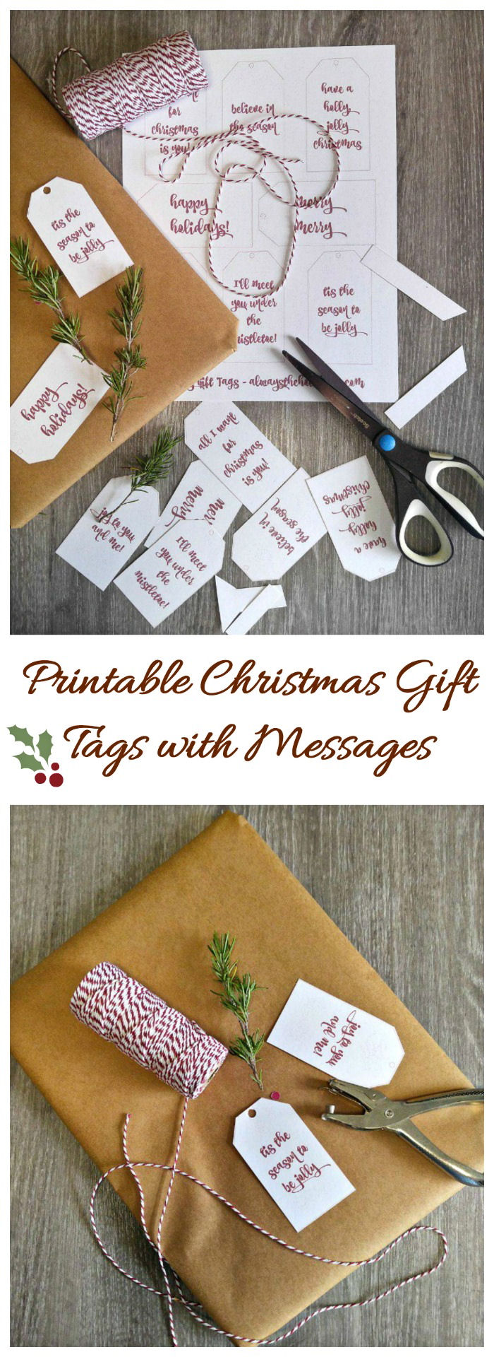 These Printable Christmas Gift Tags will give your holiday package a personal touch #gifttags #freeprintables