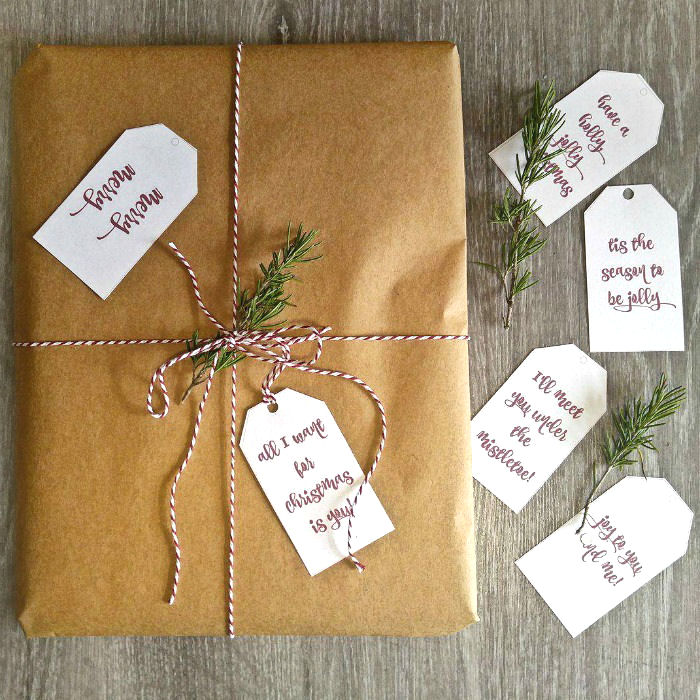 Printable Christmas Gift Tags - Holiday Labels with Messages