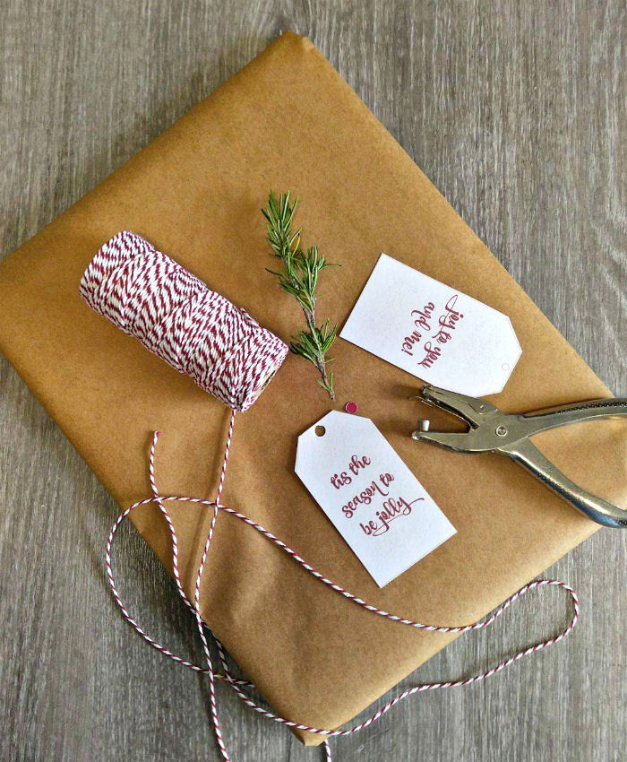 Butchers twine and manila wrapping paper