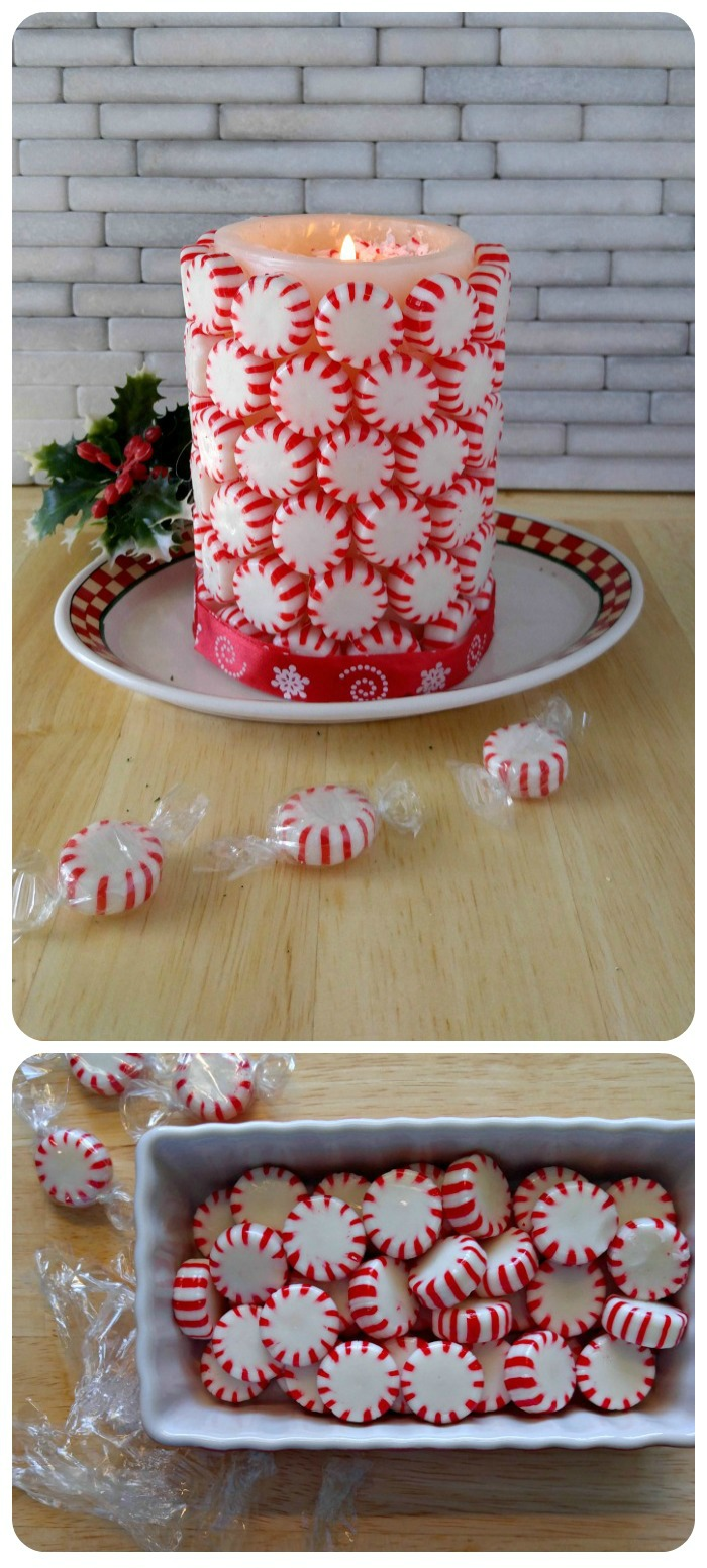 Easy DIY peppermint candle