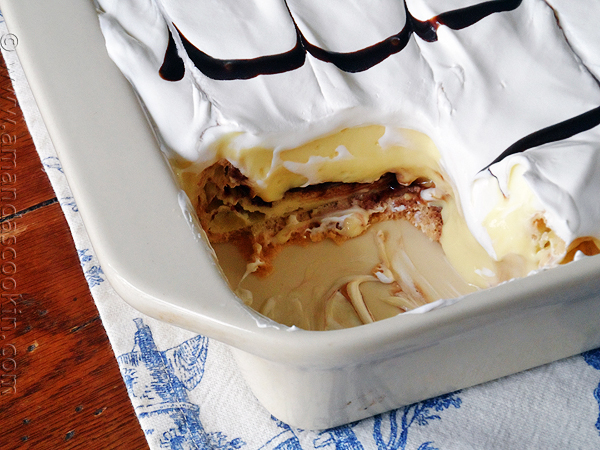 Cream puff cake from Amanda's Cooking